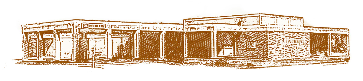 Illustration of a bank branch