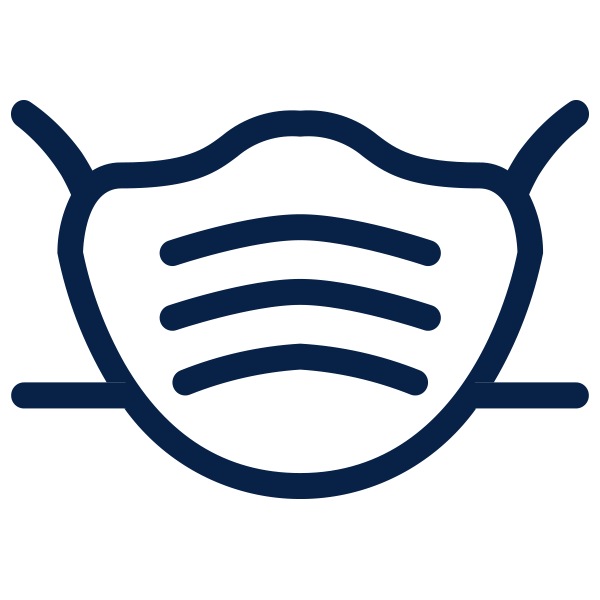 A face mask icon