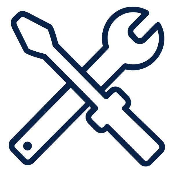 Outline of wrench and screwdriver