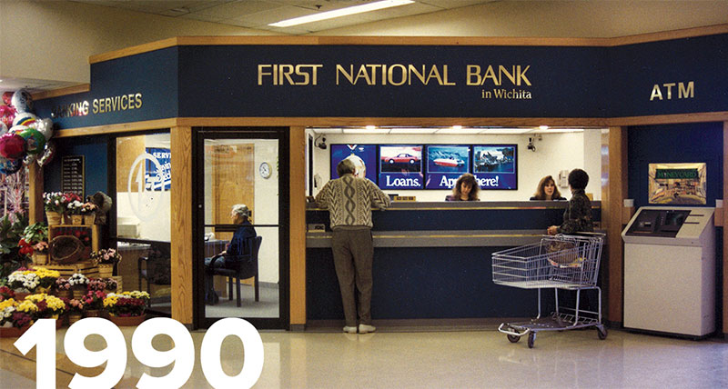 Photo of a bank inside a grocery store